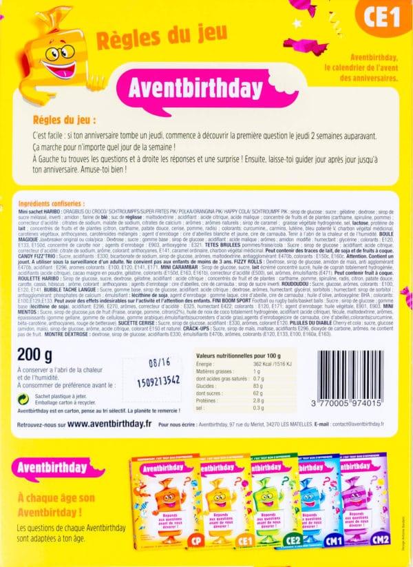 calendrier anniversaire enfant