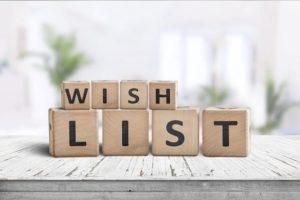 Wishlist pour un anniversaire