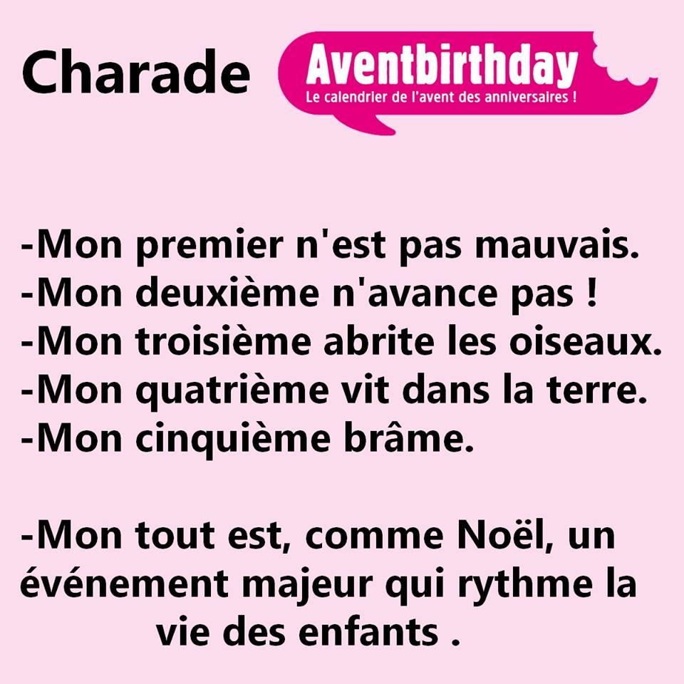 Jeu aventbirthday charade