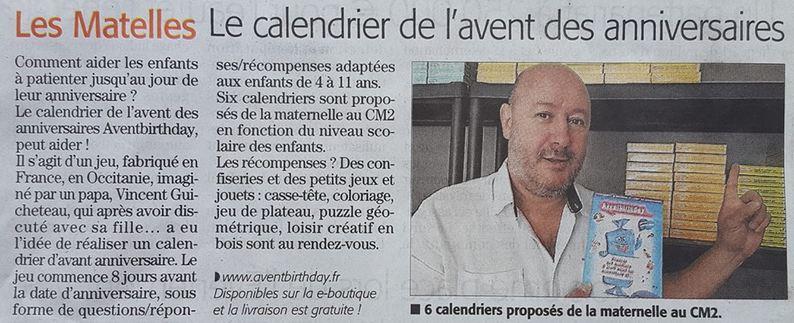 article presse midi libre aventbirthday