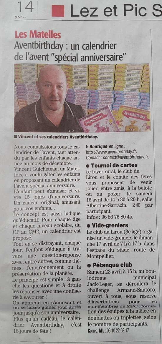 article Midi Libre Aventbirthday
