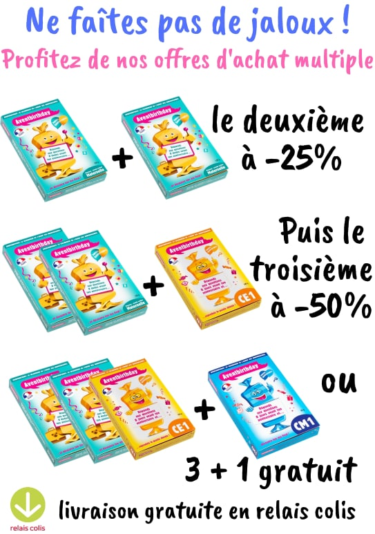 reduction achat calendriers avent anniversaire